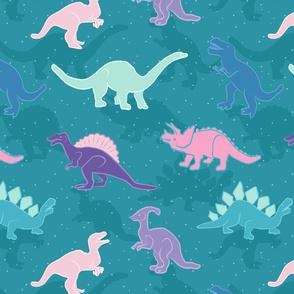 Dreamy Dinosaurs Blue