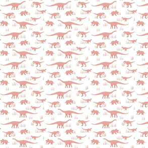 dinosaurs pattern- red-small