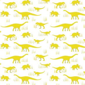 dinosaurs pattern- yellow-medium