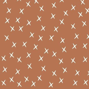 crosses - terracotta