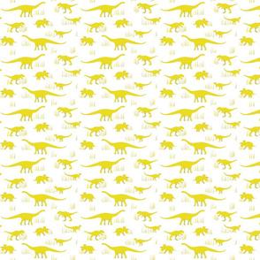 dinosaurs pattern- yellow-small