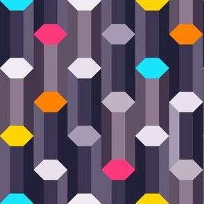 crystal hexagon columns