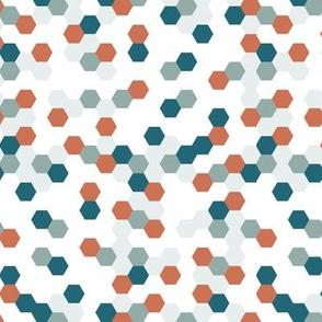 dear clementine - hexagon blue
