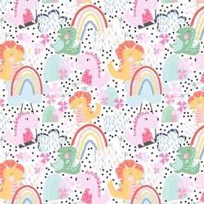 Rainbow Playground Dinos