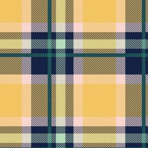 Blue and Yellow Plaid V.04