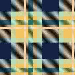 Blue and Yellow Plaid V.05