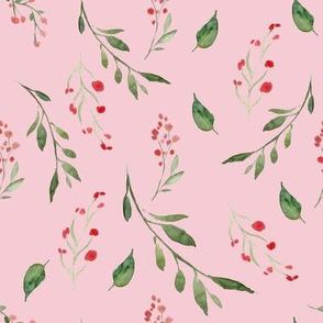 Tossed Floral Spray Pink
