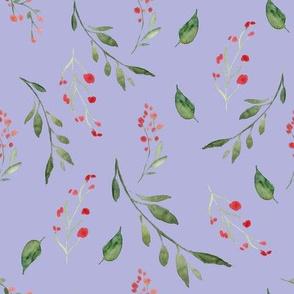 Tossed Floral Spray Violet