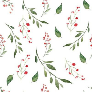 Tossed Floral Spray White