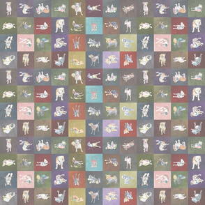 Small pastel: Positively Dog Street