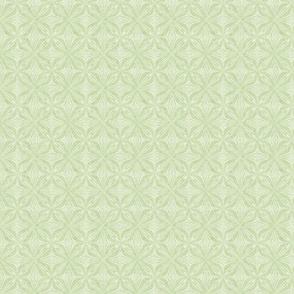 Petal Repeat in Velvety Lime Green Reverse