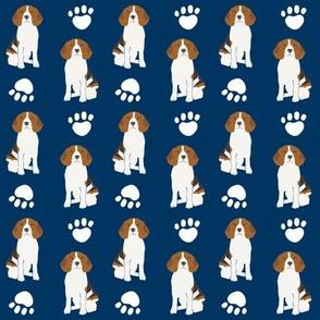 beagle beagles navy blue blue dog dogs pet dog pet owners cute beagle fabric