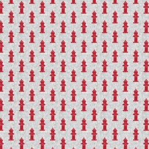 (micro scale) fire hydrants red on grey C19BS