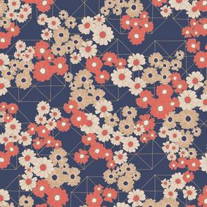Blooming Daisy - Navy