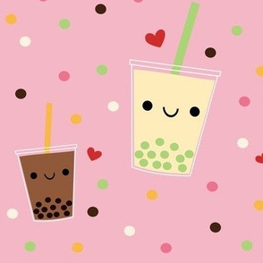 XL Boba Bubble Tea - Pink