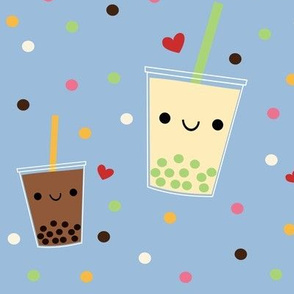 XL Boba Bubble Tea - Light Blue