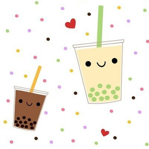 XL Boba Bubble Tea - White