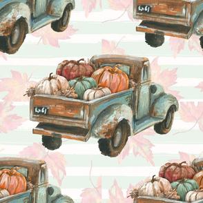 Fall Floral Truck Pumpkins
