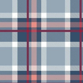 HotPink and Pale Blue Plaid V.01