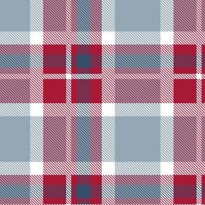 HotPink and Pale Blue Plaid V.02