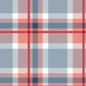 HotPink and Pale Blue Plaid V.04