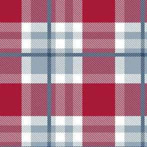 HotPink and Pale Blue Plaid V.07