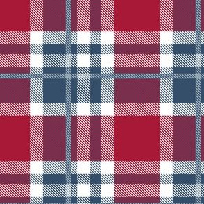 HotPink and Pale Blue Plaid V.08