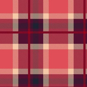 HotPink and Blue Plaid V.06