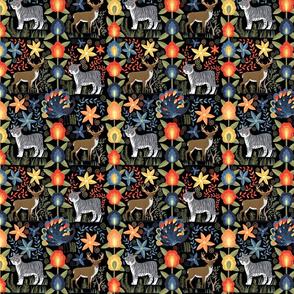 Guatemalan Tapestry - Large - Black