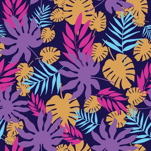 Bright tropical leaves