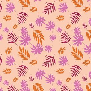 Pastel Tropical Leaves