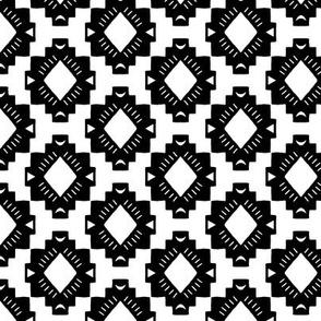 Black and White Mudcloth