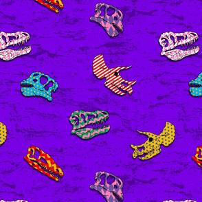 dinosaur 2 patterned purple