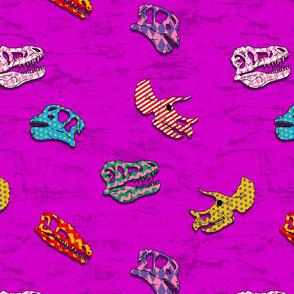 dinosaur 2 patterned light purple