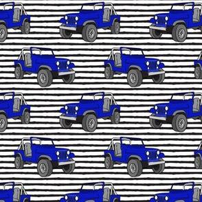 jeeps - royal blue on stripes