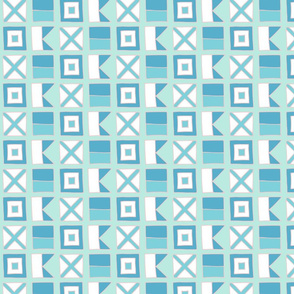 WAVE Nautical flags - blues by Pippa Shaw