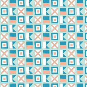 WAVE Nautical flags - coral by Pippa Shaw