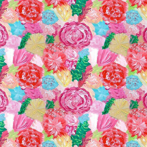 lilly print by yard hand painted floral