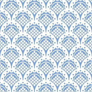 Bo Peep Blue & White Scalloped Lace  ~ Adult & Child.