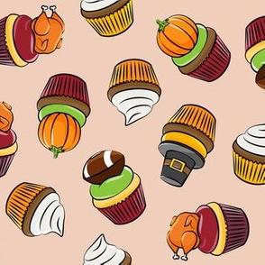 Thanksgiving cupcakes - blush - LAD19