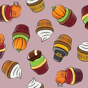 Thanksgiving cupcakes - mauve - LAD19