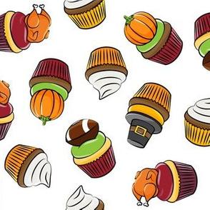 Thanksgiving cupcakes - white - LAD19
