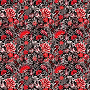 Orient Red Paisley