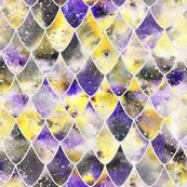Dragon scales - purple, yellow, black, nonbinary