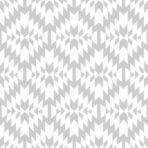 Grey and White Tribal Geo
