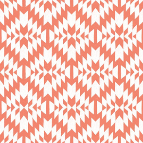 Coral and white Tribal Geo