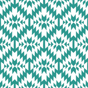 Turquoise and White Tribal Geo