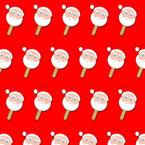 santa bubblegum ice cream on red