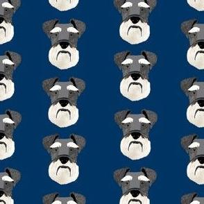 schnauzer head fabric dog head fabric dogs pets pet fabric - navy