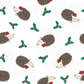 Hedgehog Christmas Tossed